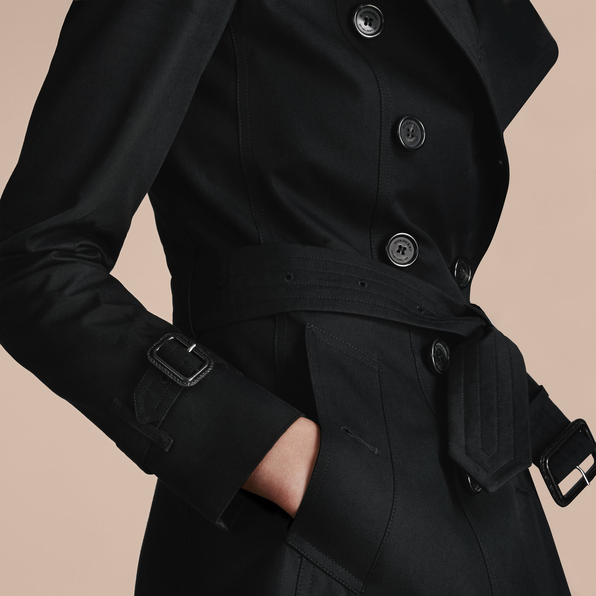Noir Trench-coat Heritage court The Chelsea Noir - photo de la galerie 5