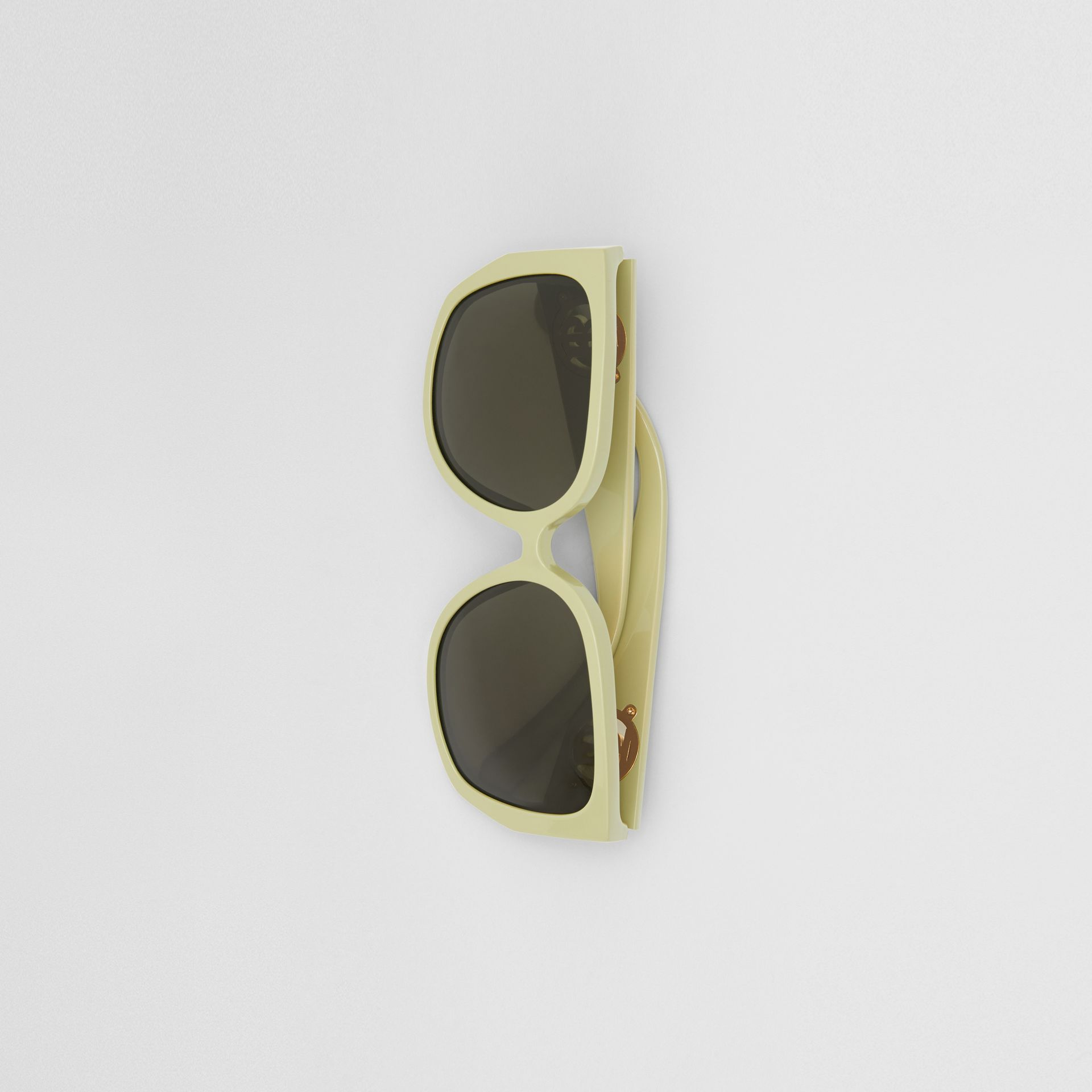 Oversized Butterfly Frame Sunglasses in Pistachio - Women | Burberry - gallery image 3