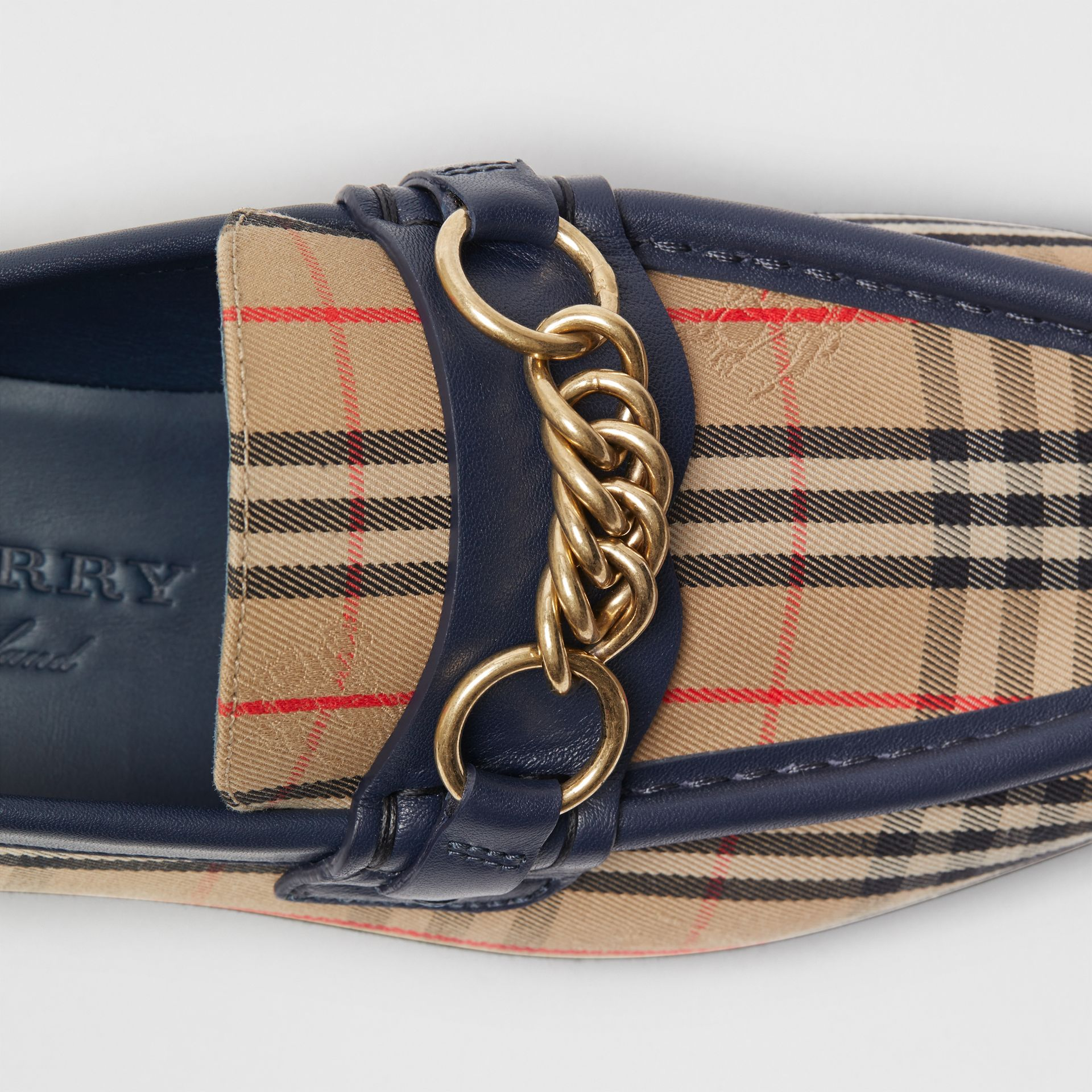 The 1983 Check Link Loafer in Ink Blue - Women | Burberry - gallery image 1