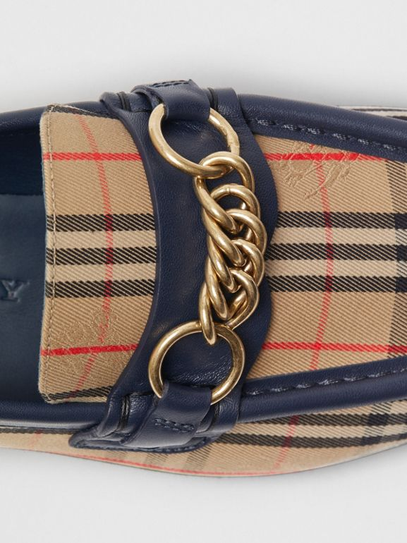 The 1983 Check Link Loafer in Ink Blue - Women | Burberry - cell image 1