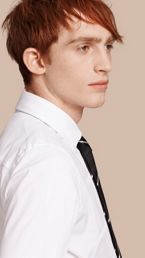 Slim Fit Button-down Collar Stretch-cotton Shirt