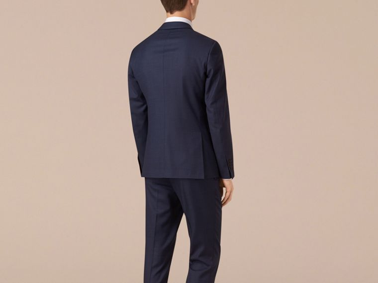 Navy Slim Fit Wool Travel Tailoring Suit - cell image 1