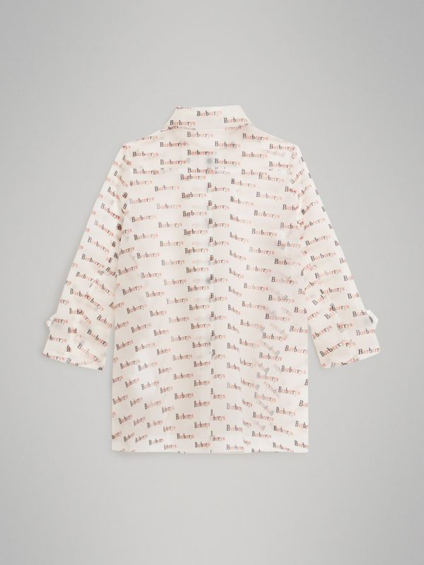 Detachable Hood Logo Print Car Coat in Multicolour - Children | Burberry United States - cell image 3