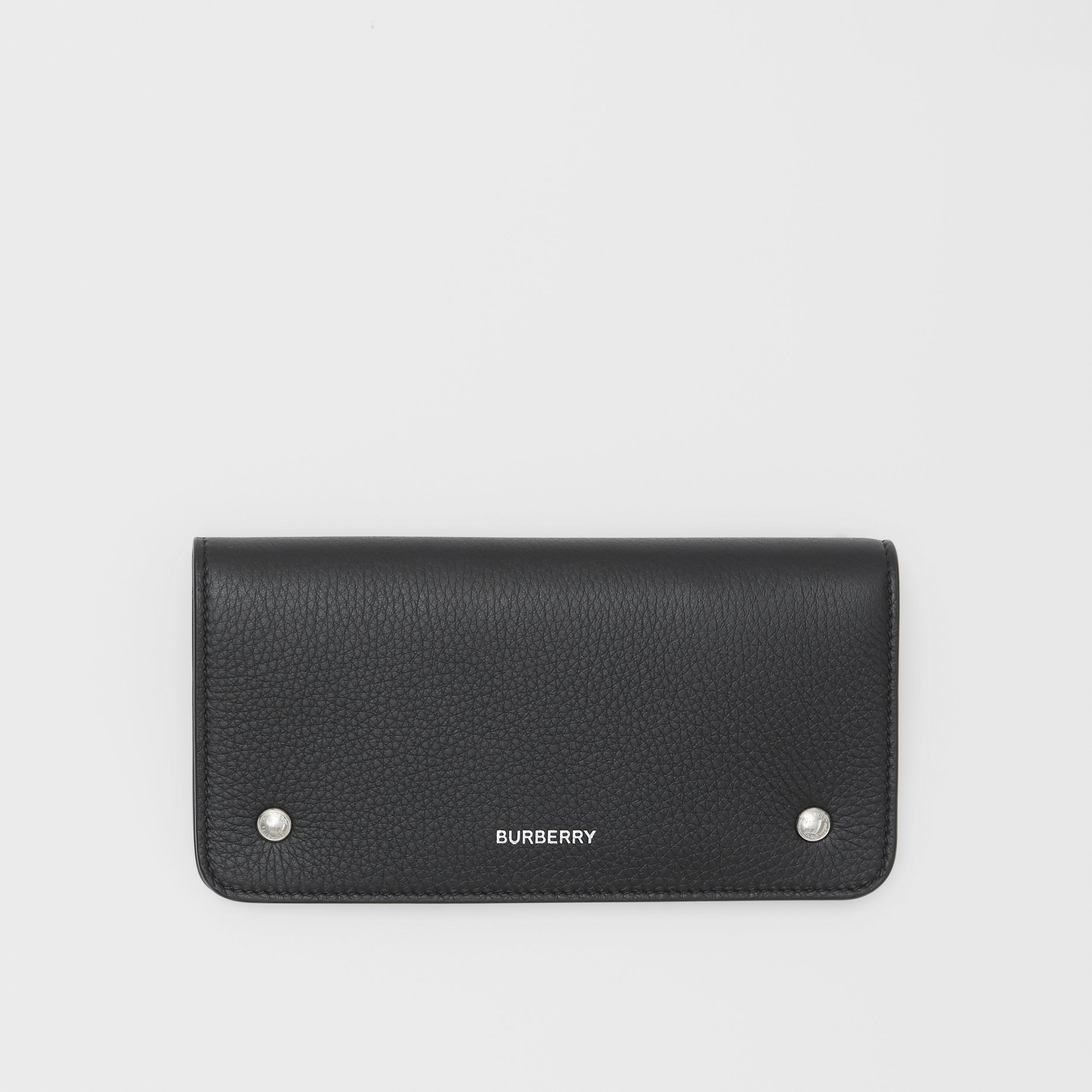 Leather Phone Wallet in Black | Burberry - 1