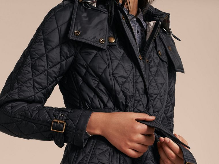 Diamond Quilted Coat Black - cell image 4