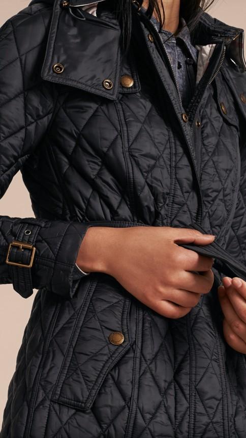 Black Diamond Quilted Coat Black - Image 5