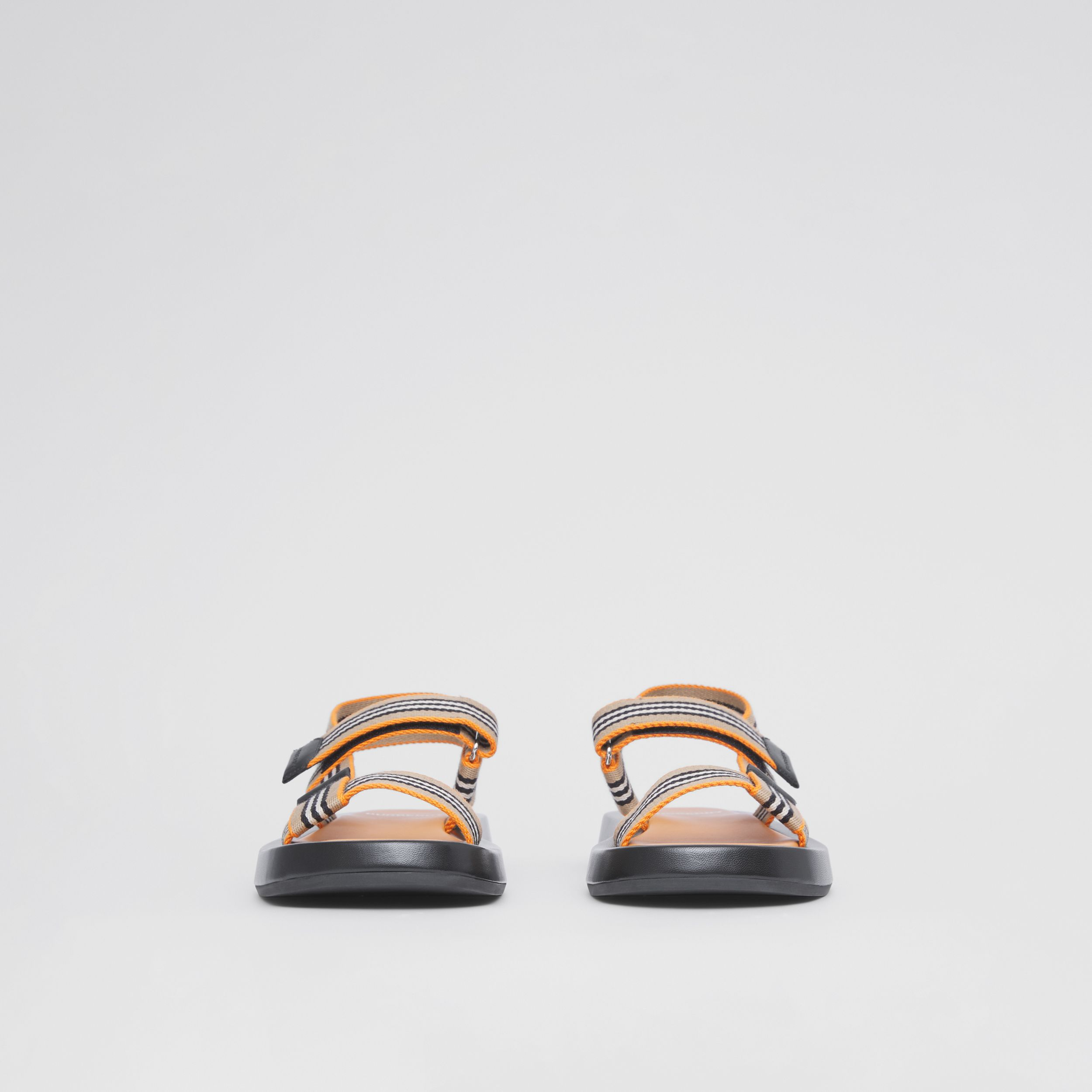 Icon Stripe Sandals in Deep Orange - Women | Burberry - 4