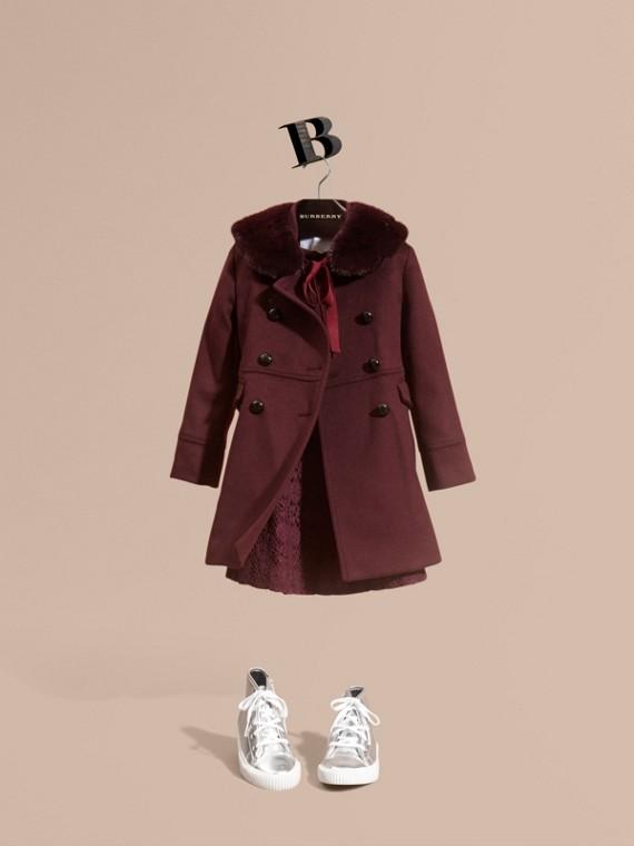 Manteau militaire en laine et cachemire