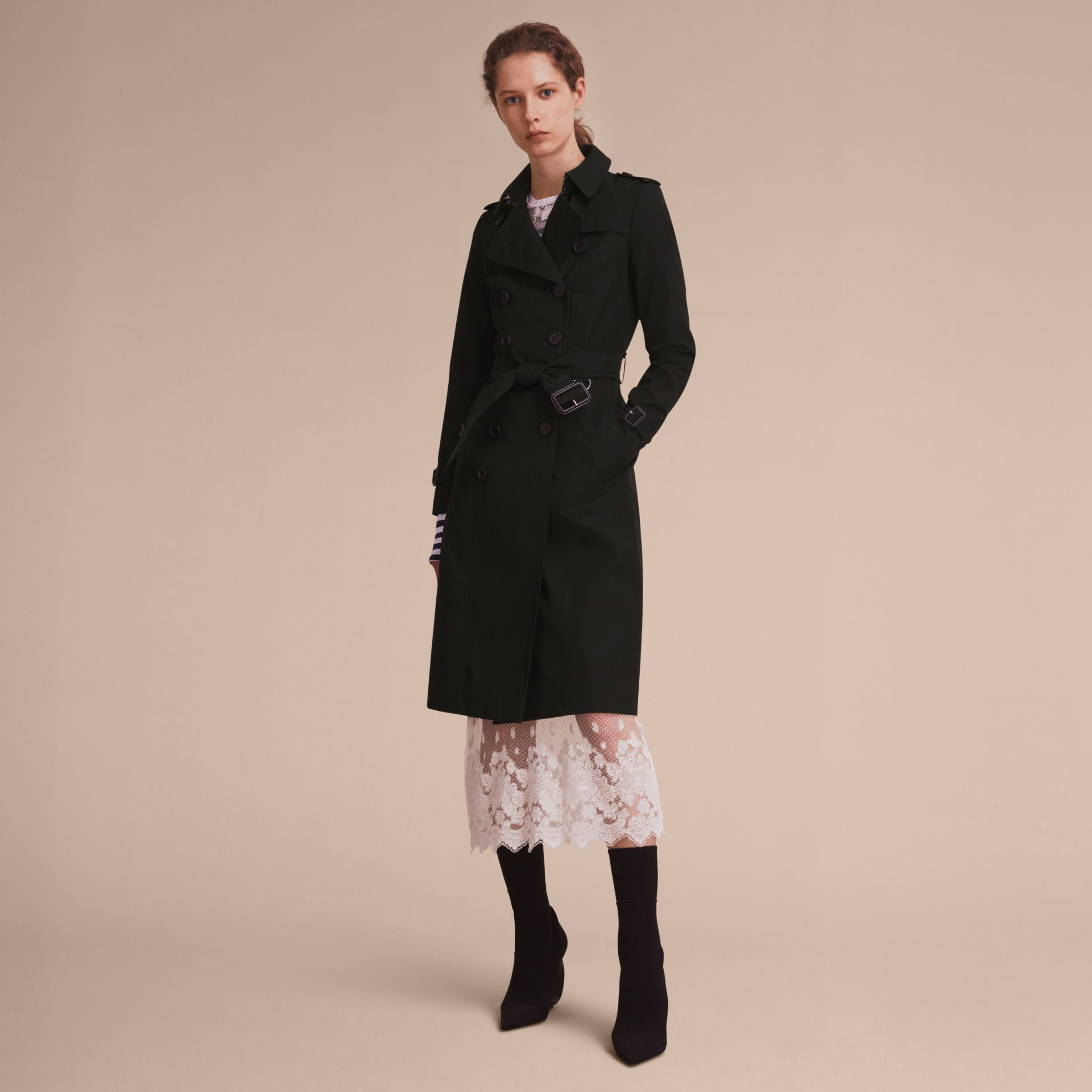 Black The Chelsea – Extra-long Heritage Trench Coat Black - gallery image 8