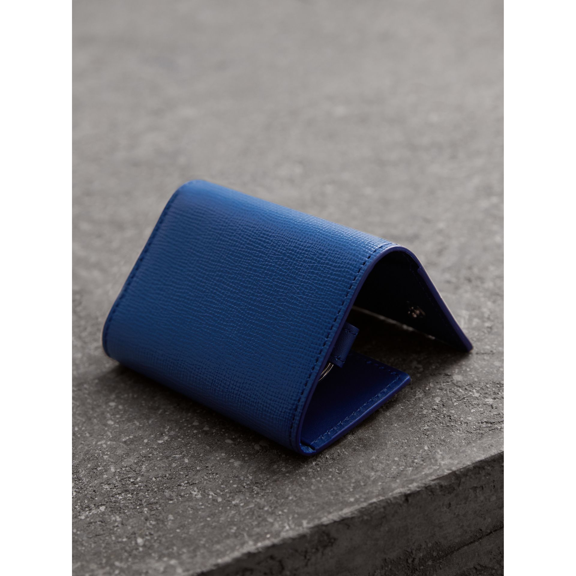London Leather Key Holder in Deep Blue - Men | Burberry - gallery image 3