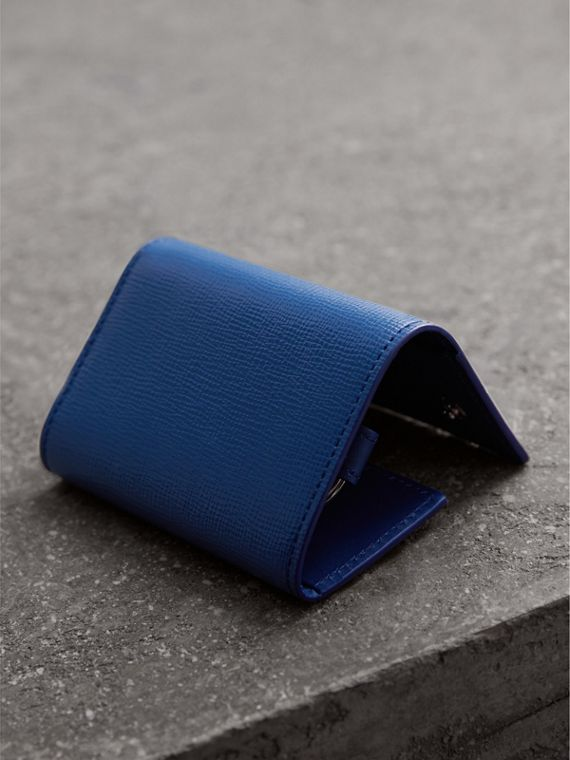 London Leather Key Holder in Deep Blue - Men | Burberry United Kingdom - cell image 2