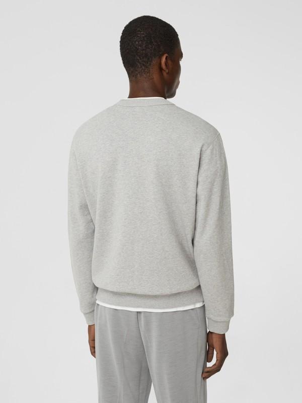 Monogram Motif Cotton Sweatshirt in Pale Grey Melange - Men | Burberry United Kingdom - cell image 2