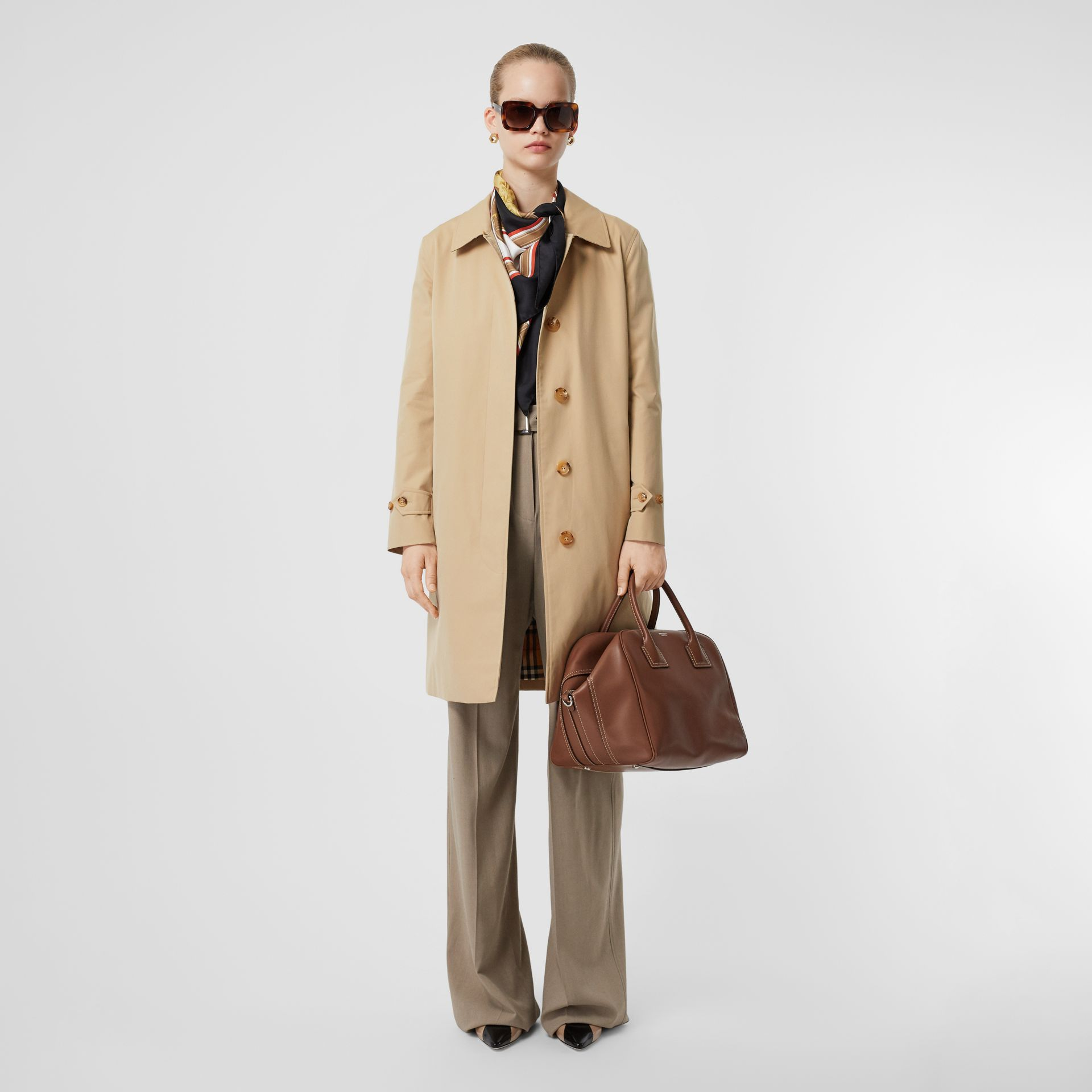 The Pimlico Heritage Car Coat in Honey - Women | Burberry - gallery image 0