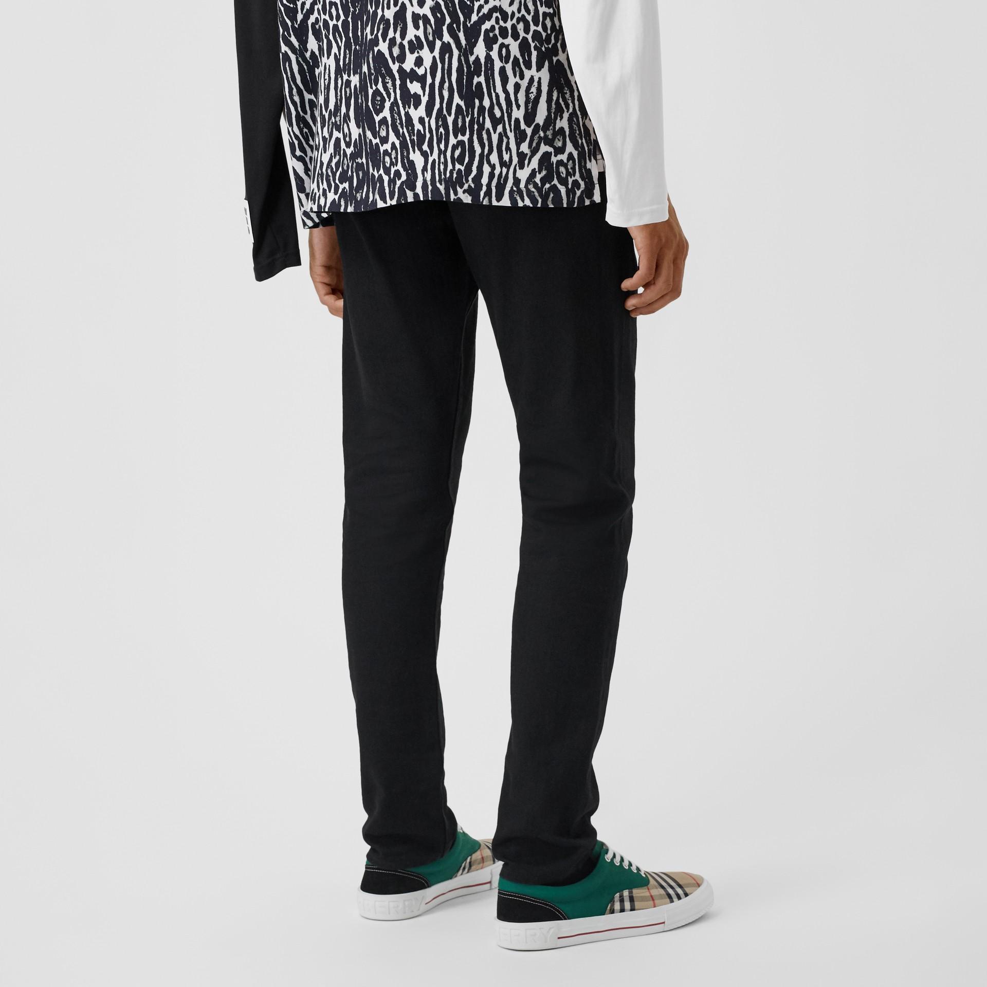 Slim Fit Japanese Denim Jeans in Black - Men | Burberry - gallery image 2