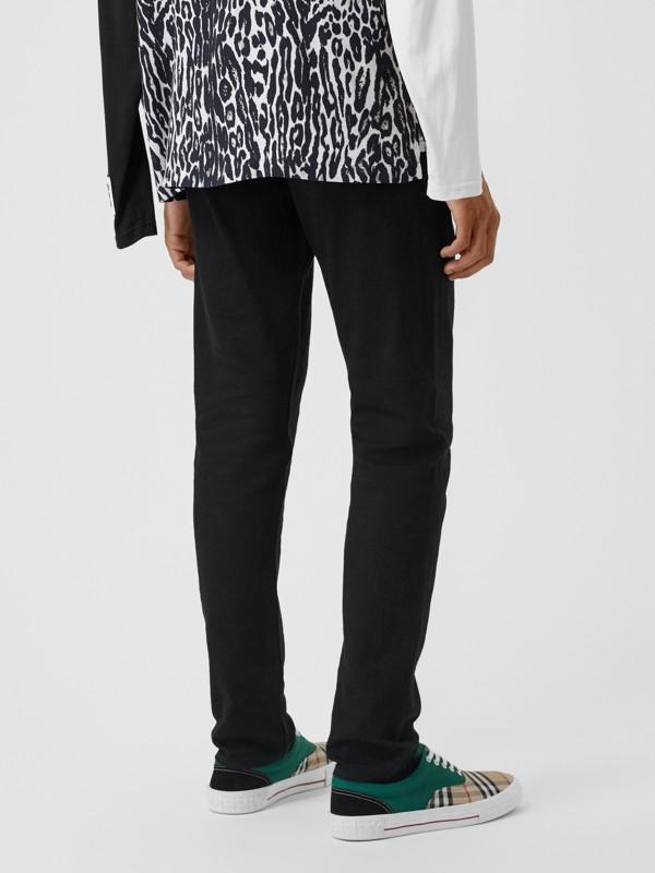 Slim Fit Japanese Denim Jeans in Black - Men | Burberry - cell image 2