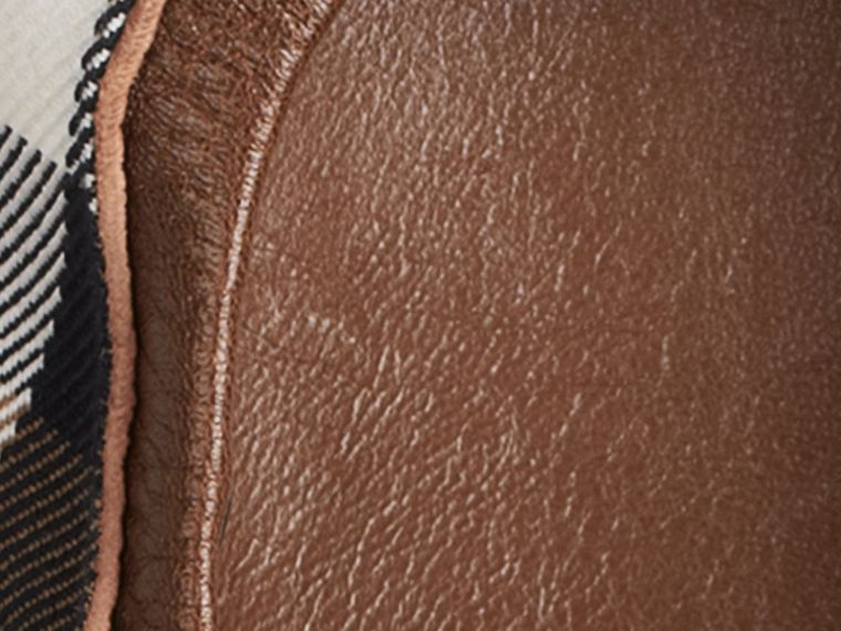Dark tan Buckle Detail House Check Ballerinas Dark Tan - cell image 1