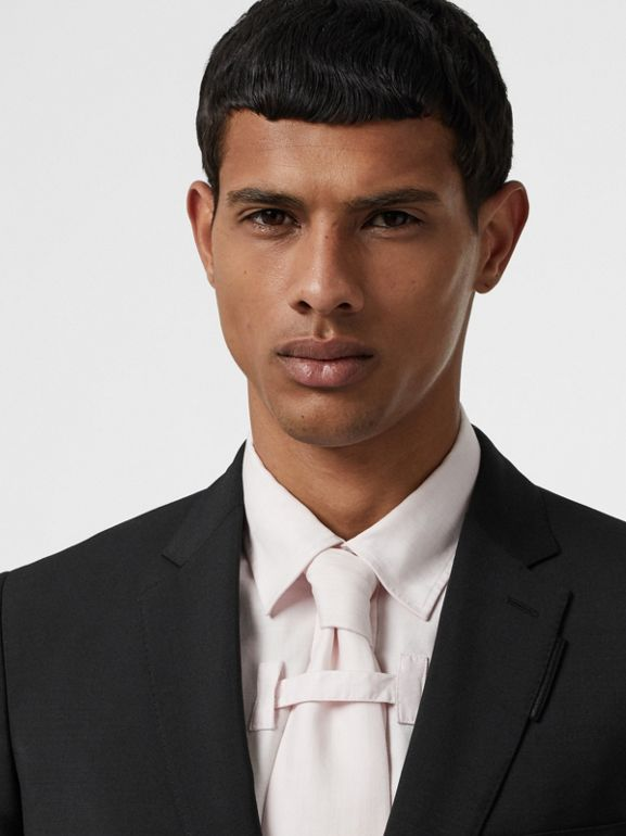 Slim Fit Wool Mohair Suit in Black - Men | Burberry Canada - cell image 1