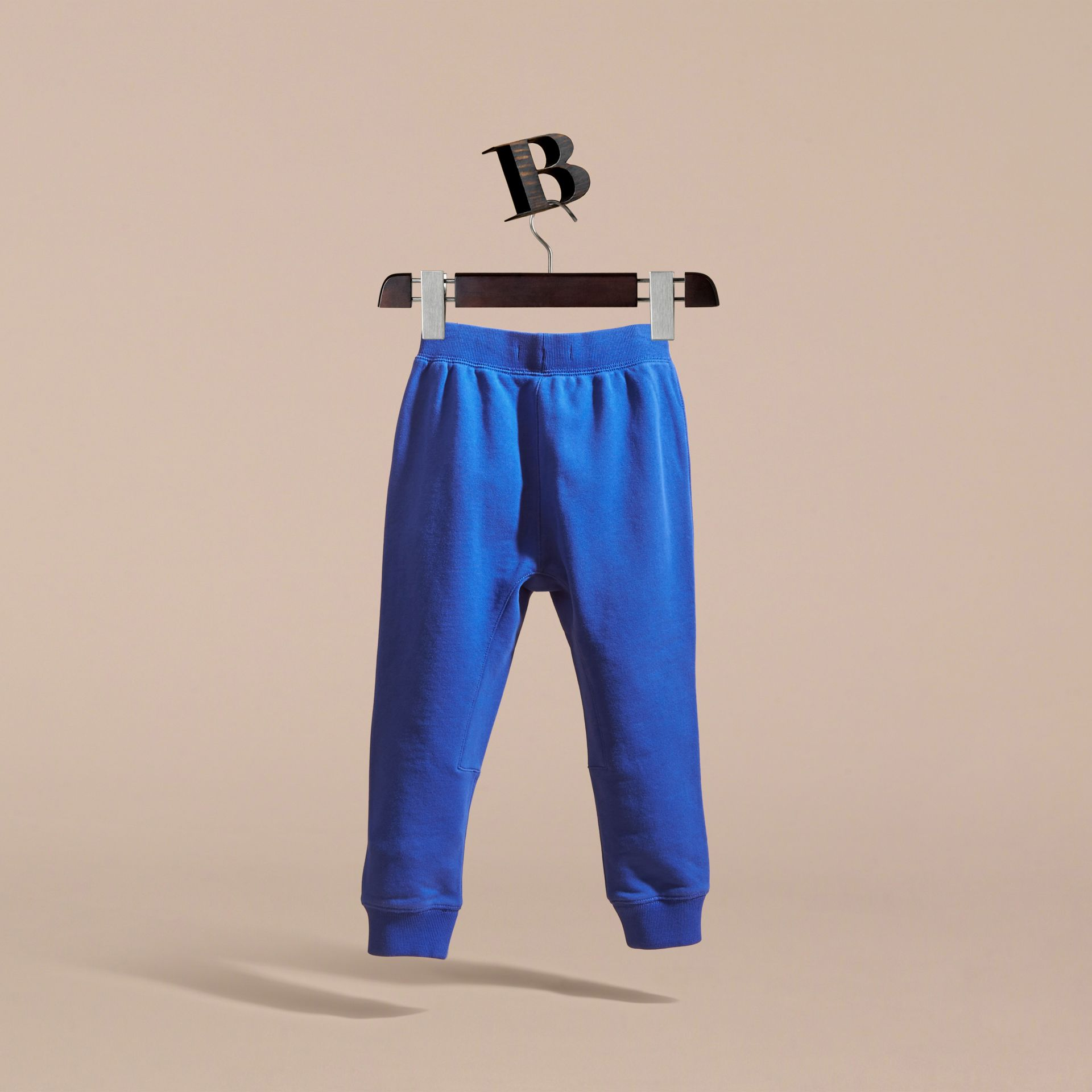 Drawcord Cotton Sweatpants Brilliant Blue - gallery image 4