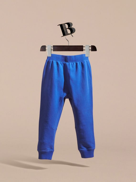 Drawcord Cotton Sweatpants Brilliant Blue - cell image 3