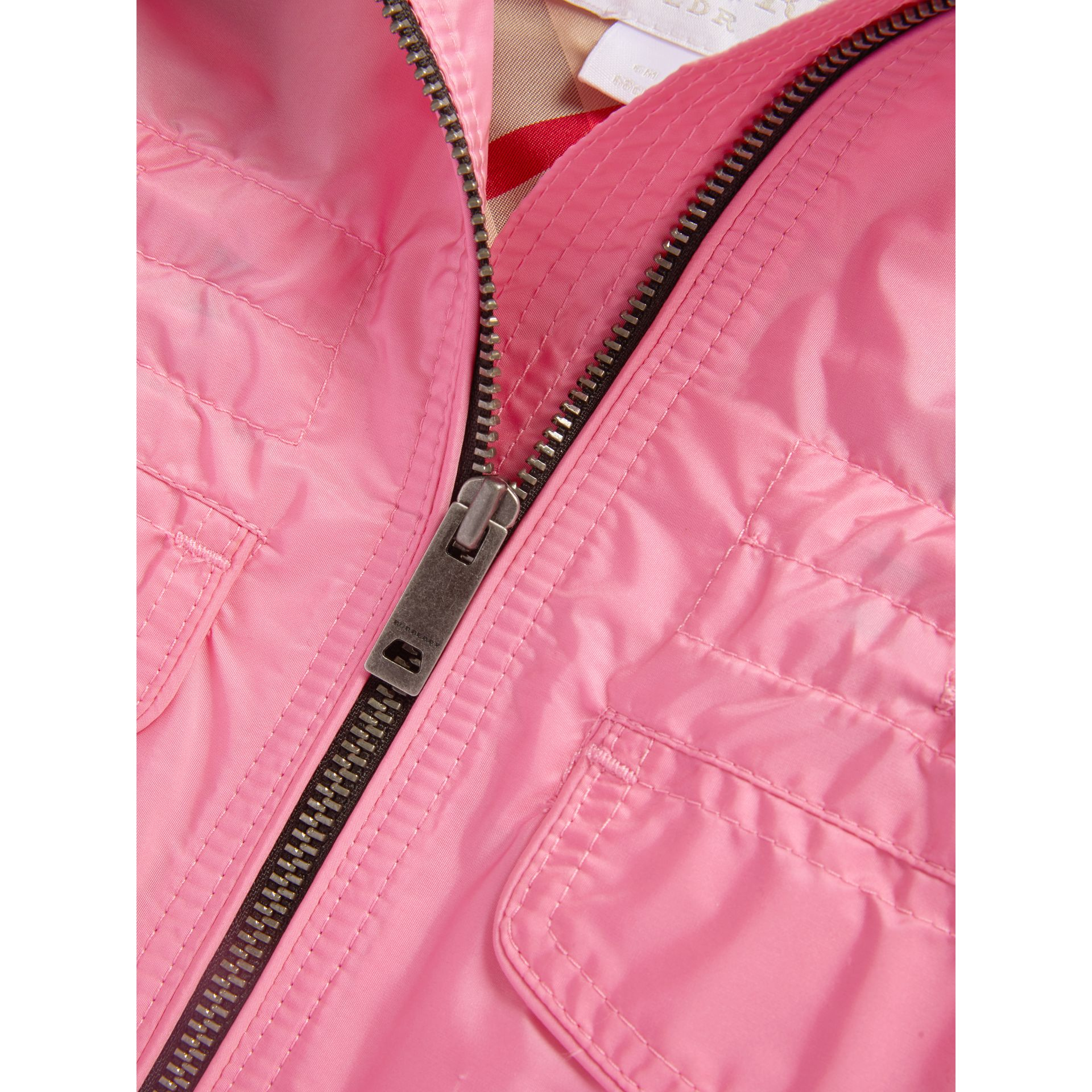 Hooded Packaway Technical Jacket in Peony | Burberry United States - gallery image 1
