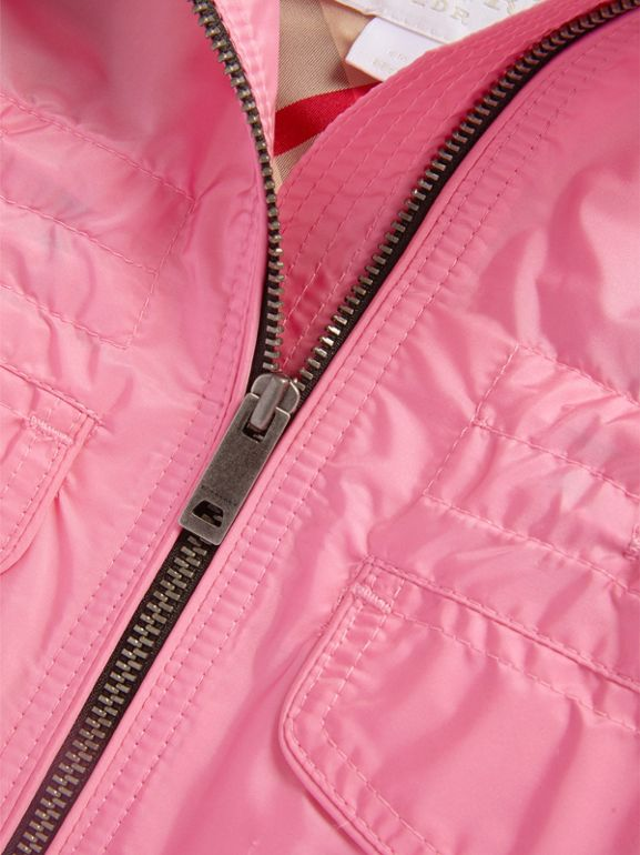 Hooded Packaway Technical Jacket in Peony | Burberry United Kingdom - cell image 1