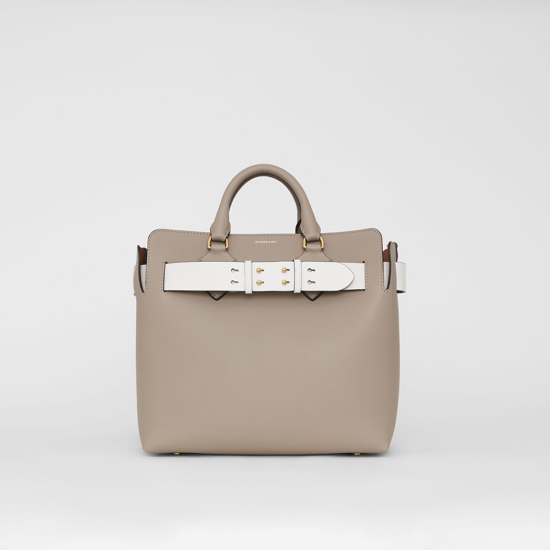 The Medium Leather Belt Bag in Mineral Grey - Women | Burberry Australia - gallery image 0