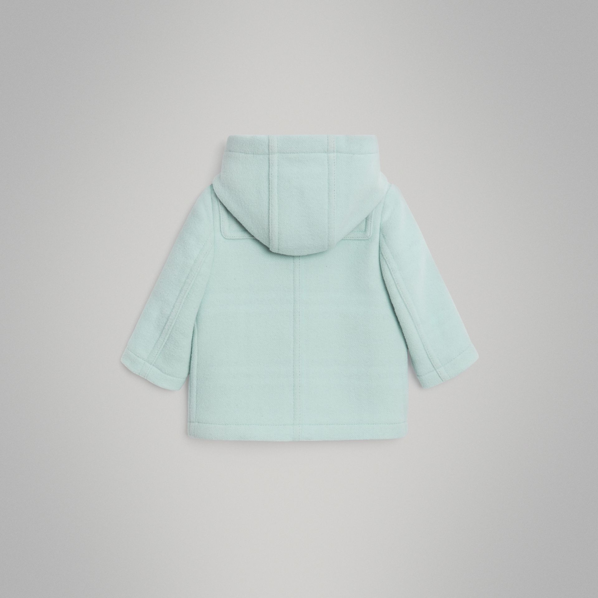 Boiled Wool Duffle Coat in Pale Mint | Burberry - gallery image 3