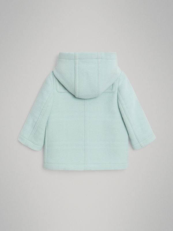 Boiled Wool Duffle Coat in Pale Mint | Burberry - cell image 3