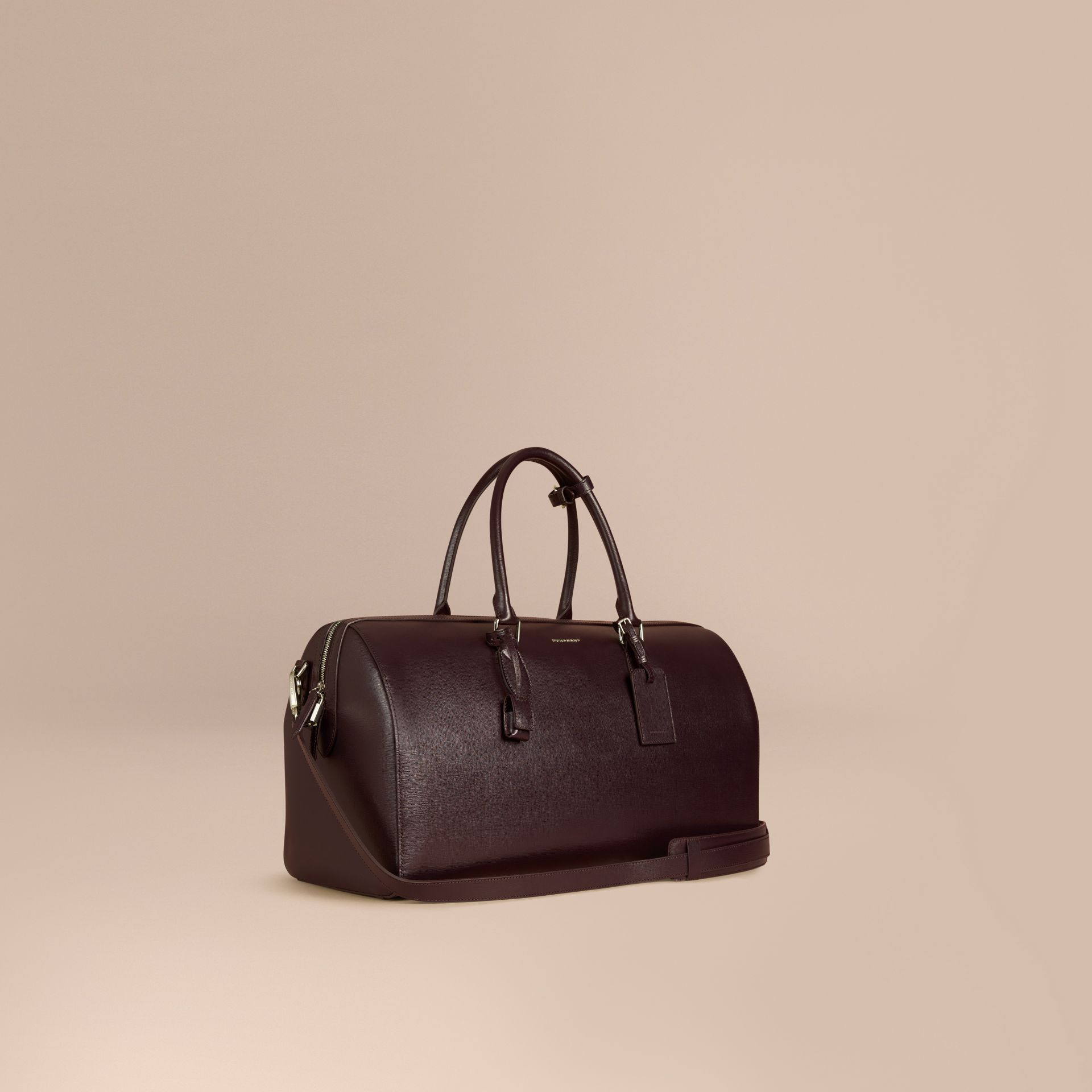 Wine London Leather Holdall Wine - gallery image 1