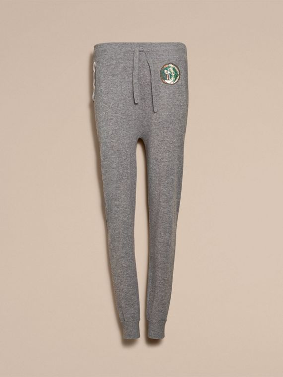 Pallas Heads Appliqué Wool Cashmere Knitted Trousers - cell image 3