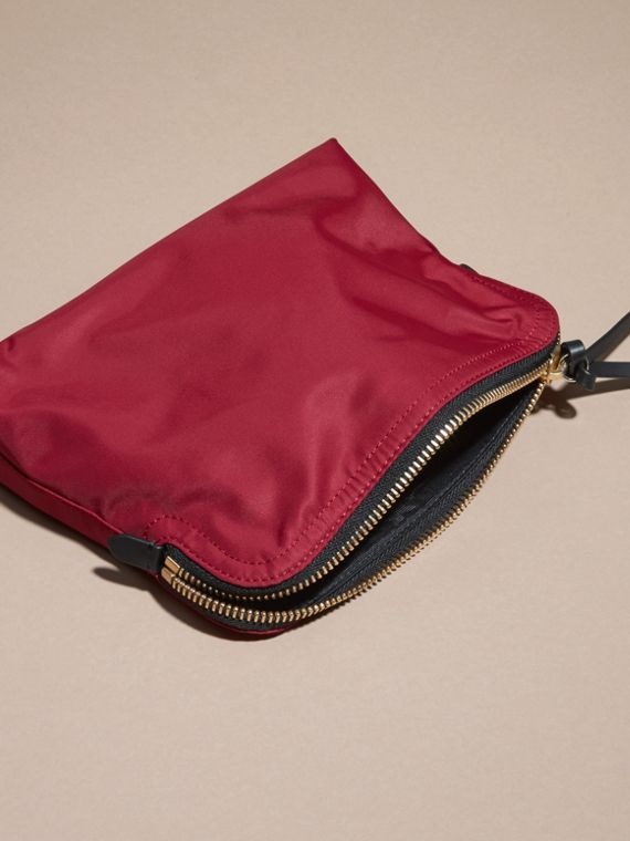 Large Zip-top Technical Nylon Pouch Parade Red - cell image 3