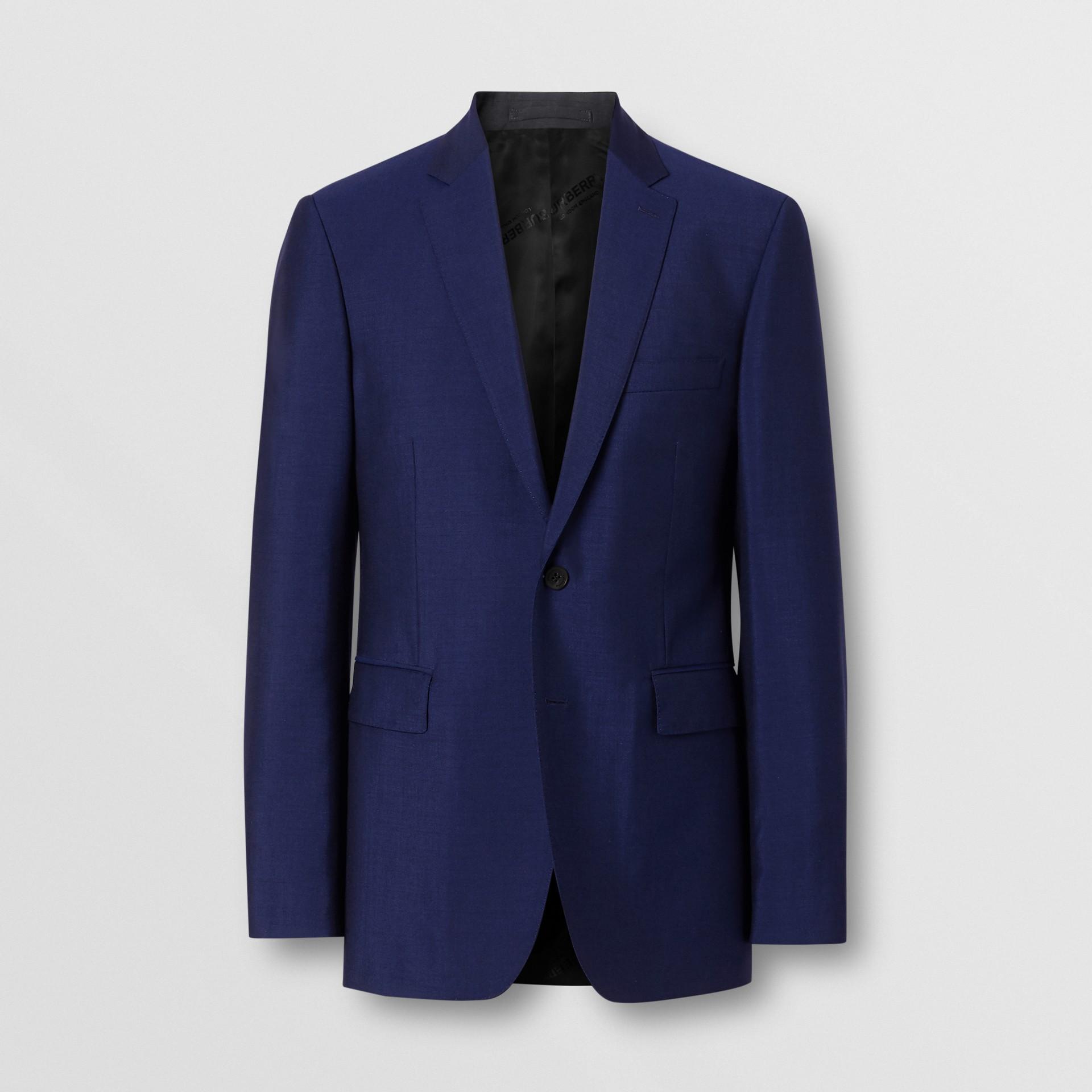 Slim Fit Wool Mohair Suit in Navy - Men | Burberry - gallery image 3