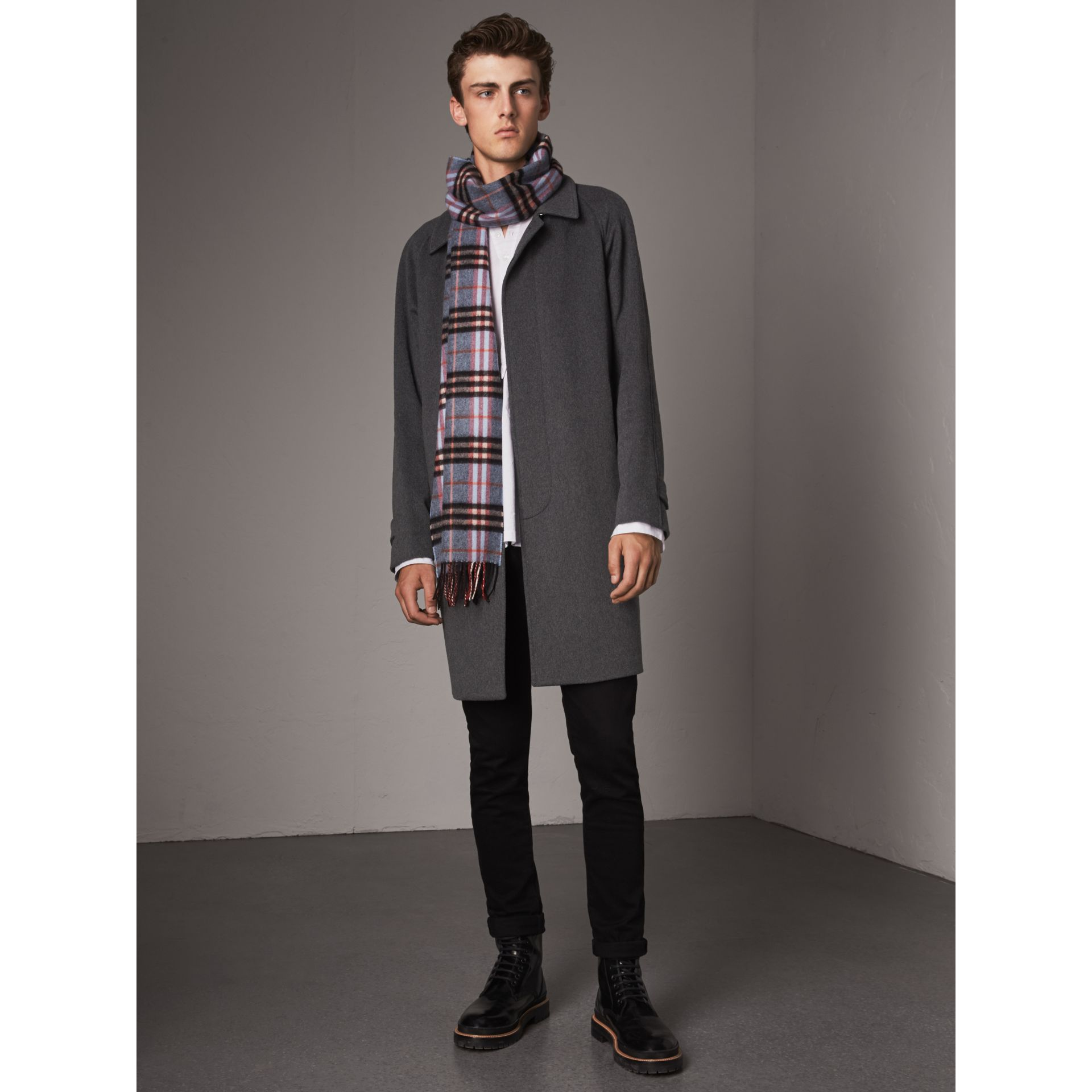 Cashmere Car Coat in Pewter Melange - Men | Burberry Australia - gallery image 6