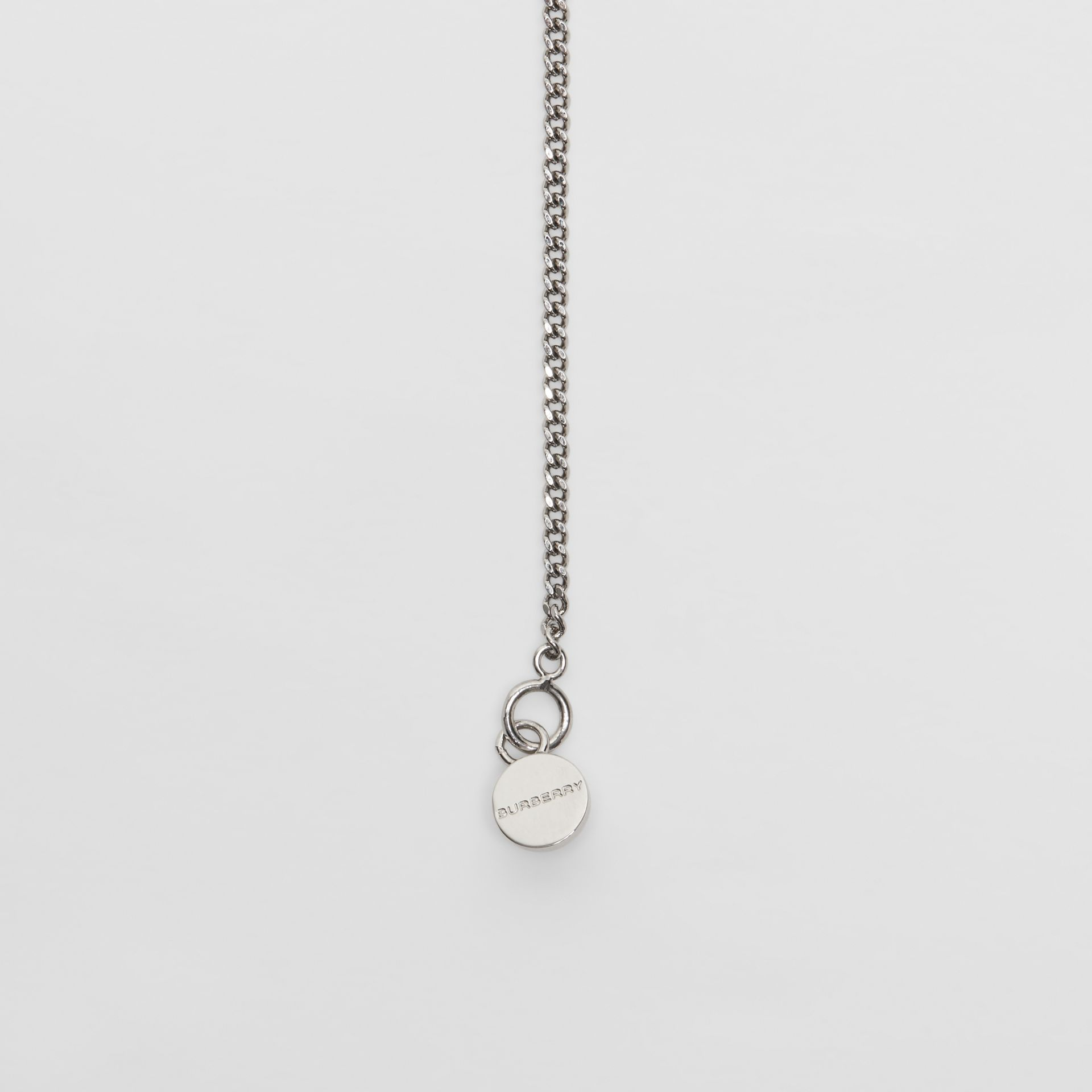 Palladium-plated Chain Necklace in Palladio - Women | Burberry - gallery image 1