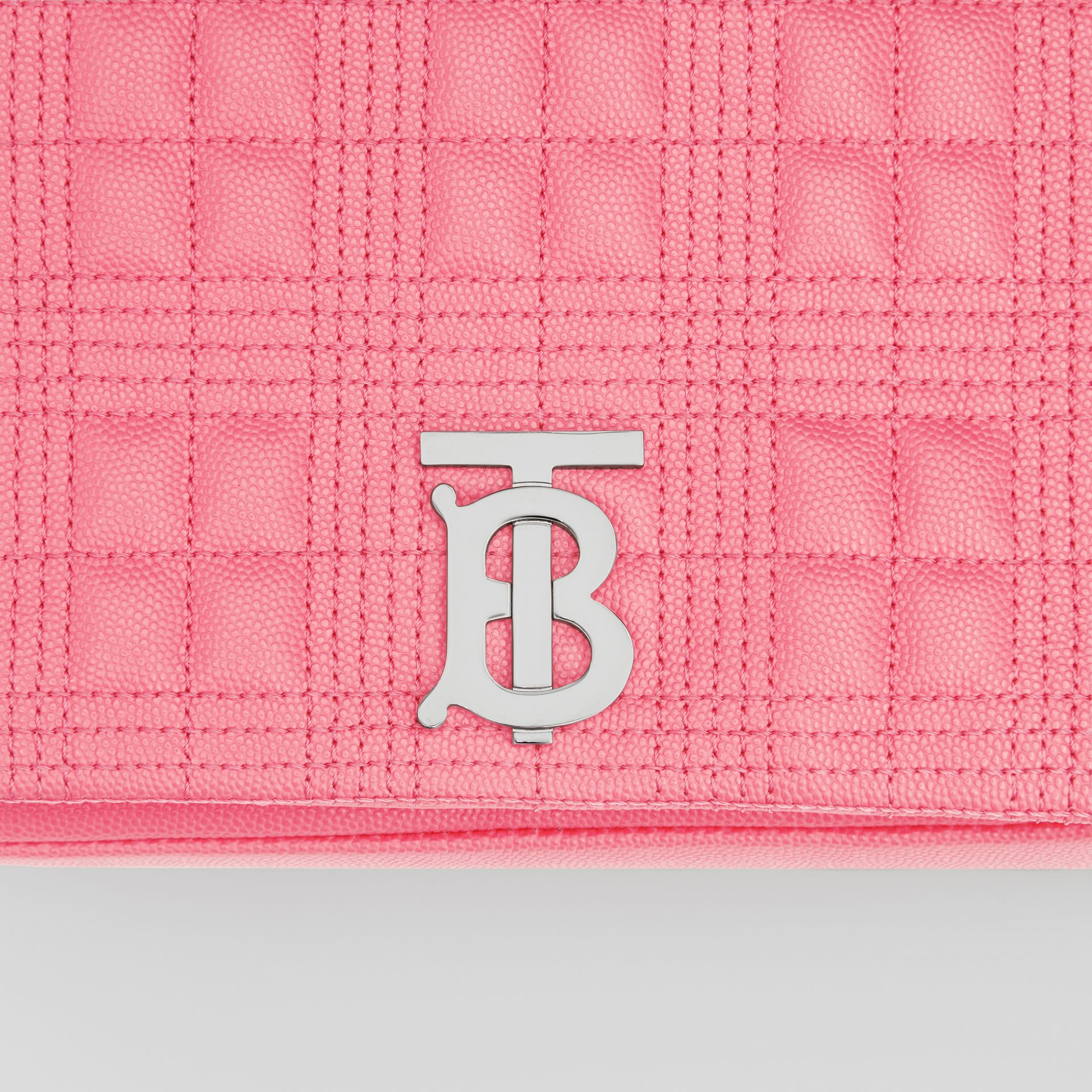 Small Quilted Grainy Leather Lola Bag in Candy Floss - Women | Burberry - gallery image 1