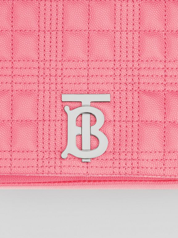 Small Quilted Grainy Leather Lola Bag in Candy Floss - Women | Burberry - cell image 1