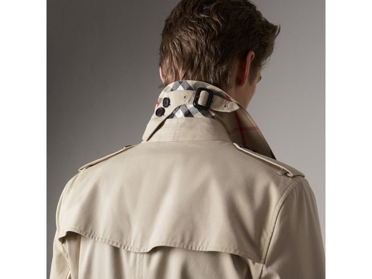 The Kensington – Mid-length Trench Coat in Stone - Men | Burberry Singapore - cell image 1