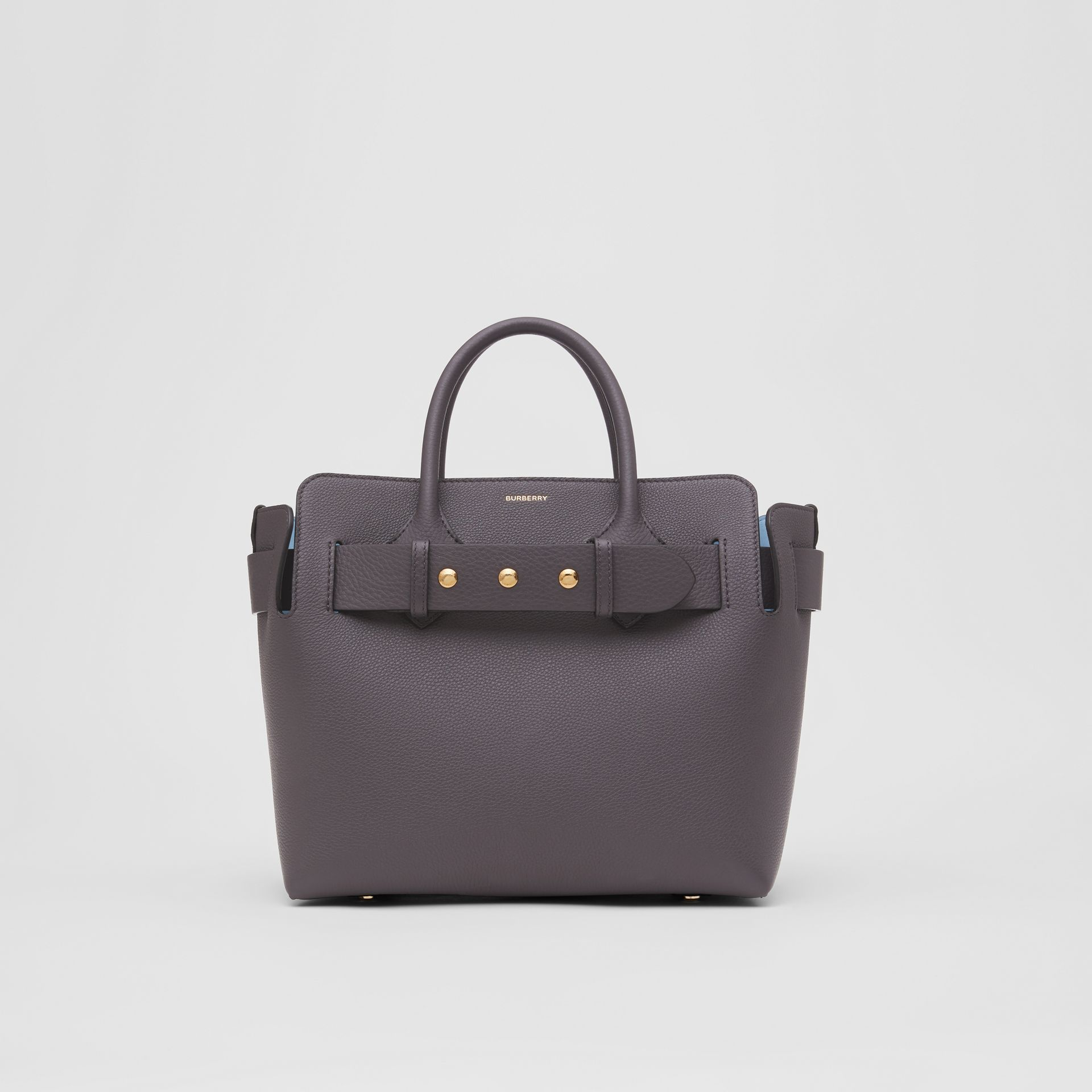 The Small Leather Triple Stud Belt Bag in Charcoal Grey - Women | Burberry United Kingdom - gallery image 0