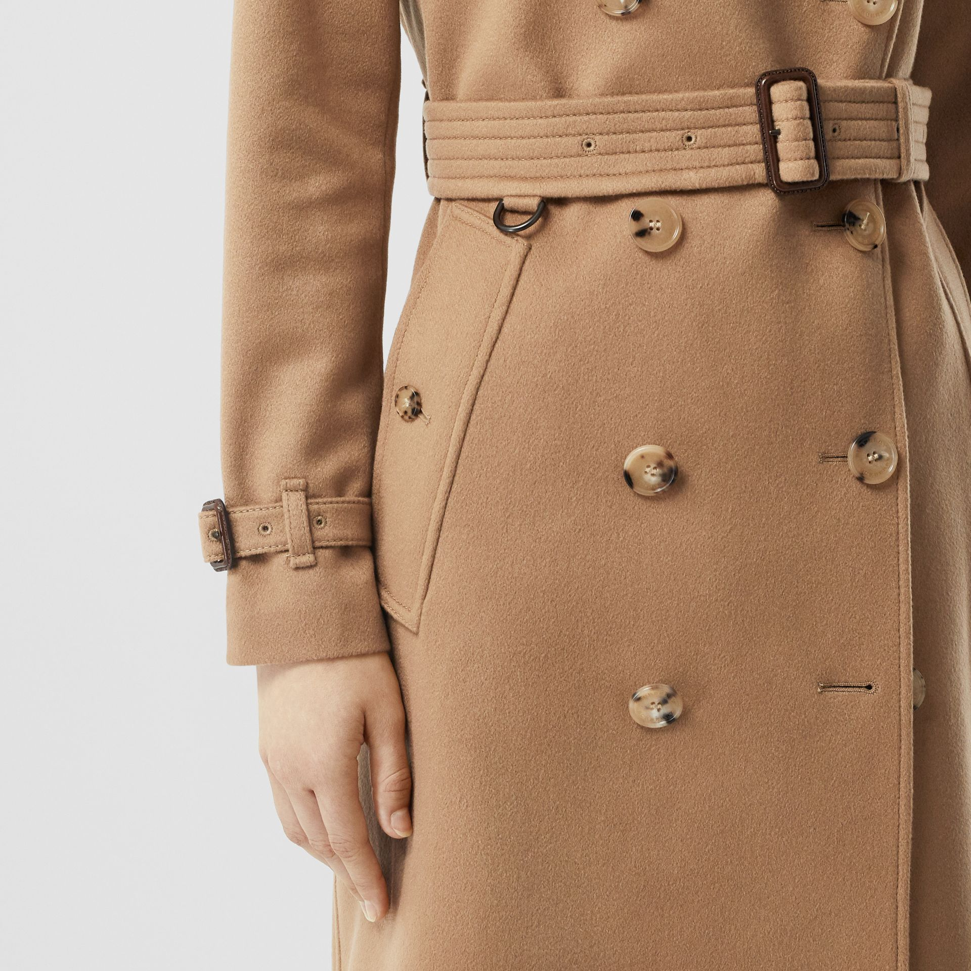 Cashmere Trench Coat in Mid Camel - Women | Burberry - gallery image 3