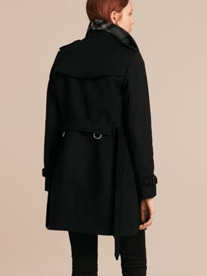Wool Cashmere Trench Coat in Black - Women | Burberry