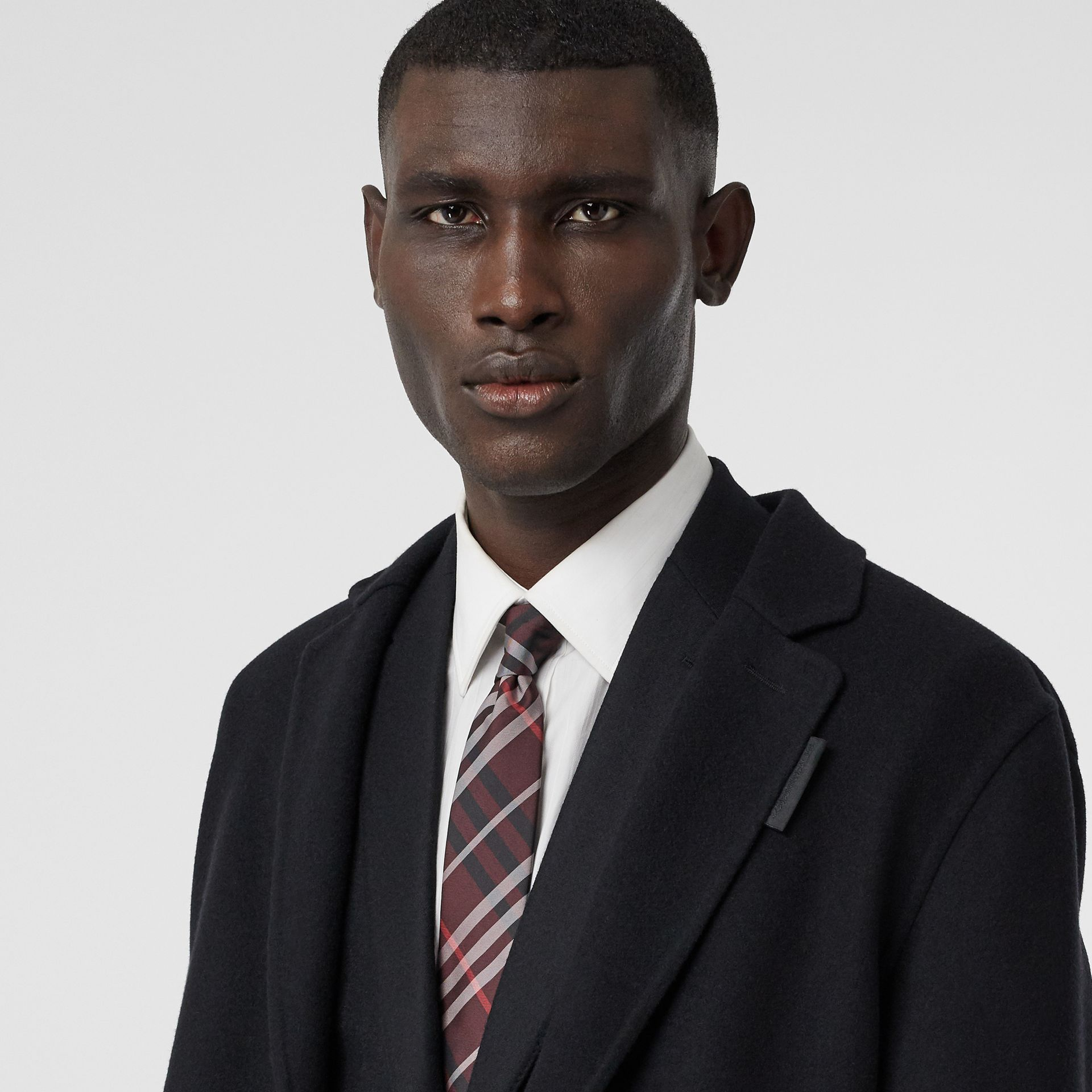 Classic Cut Vintage Check Silk Tie in Claret - Men | Burberry Singapore - gallery image 2