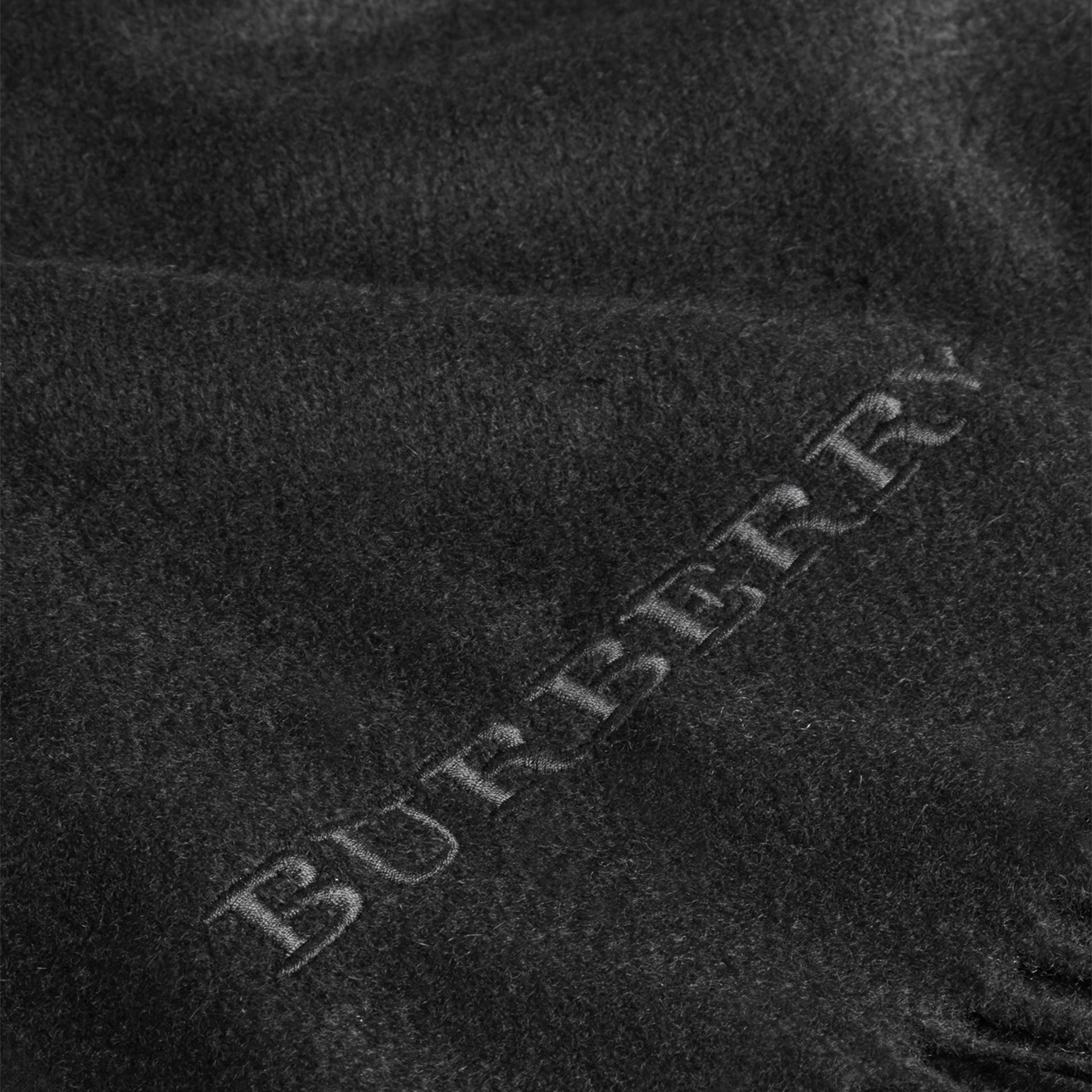 Cashmere Blanket in Black | Burberry Canada - gallery image 2