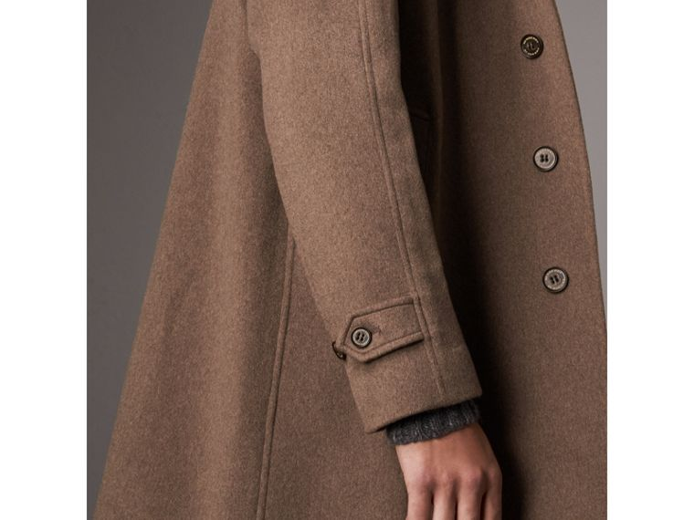 Cashmere Car Coat in Deep Taupe Melange - Men | Burberry - cell image 4
