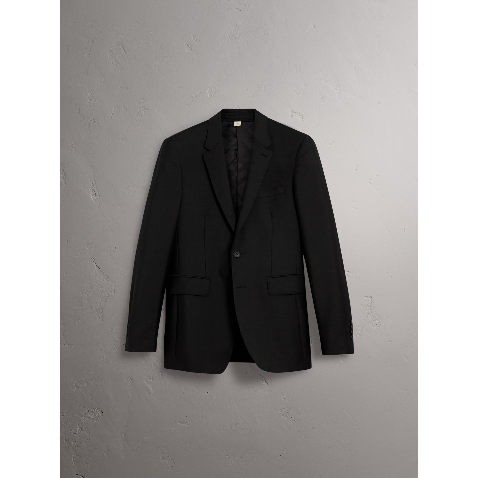 Terno de lã e mohair com corte moderno (Preto) - Homens | Burberry - galeria de imagens 4