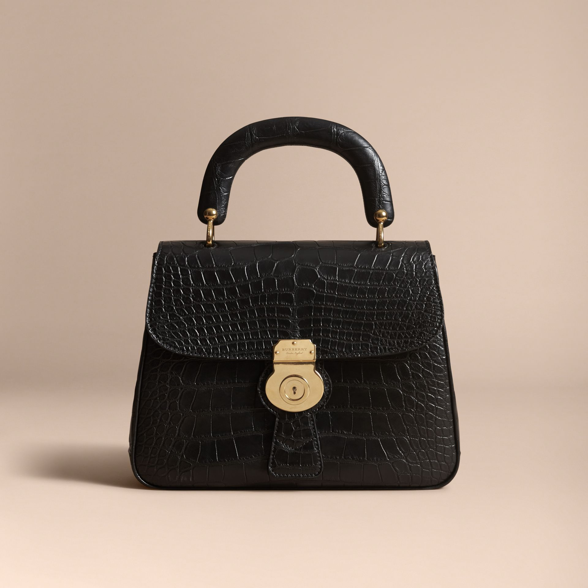 The Medium DK88 Top Handle Bag in Alligator in Black - Women | Burberry - gallery image 6