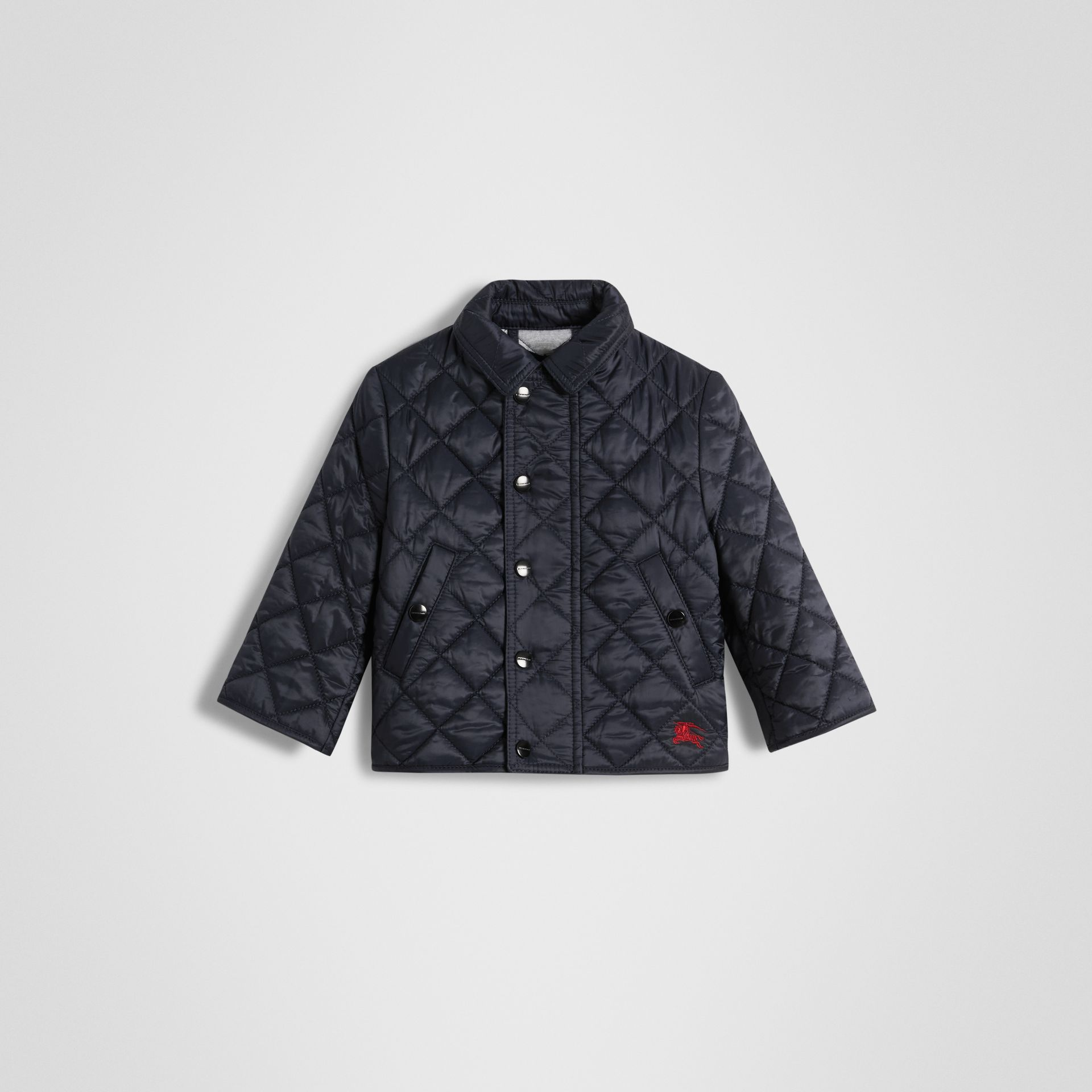 Lightweight Diamond Quilted Jacket in Ink - Children | Burberry - gallery image 0