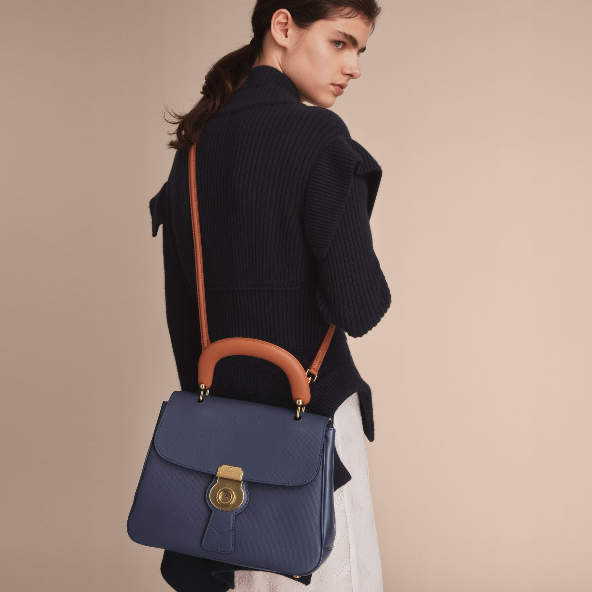 The Medium DK88 Top Handle Bag in Ink Blue - Women | Burberry - gallery image 8