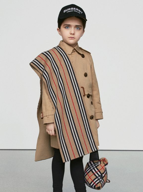 Cotton Gabardine Trench Coat in Honey | Burberry Australia - cell image 1