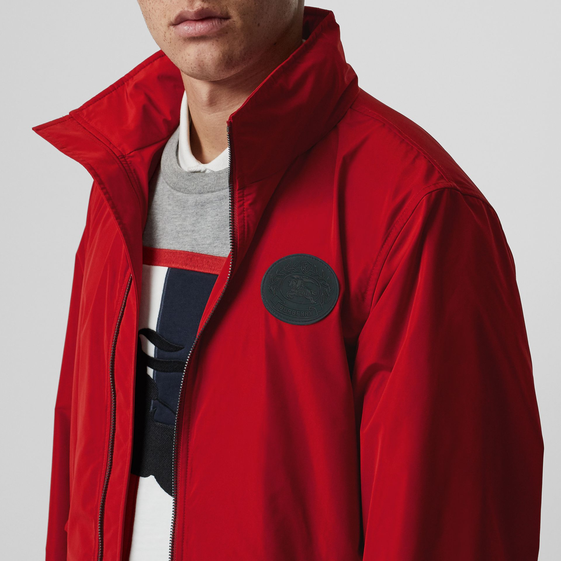 Packaway Hood Shape-memory Taffeta Jacket in Military Red - Men | Burberry United States - gallery image 4