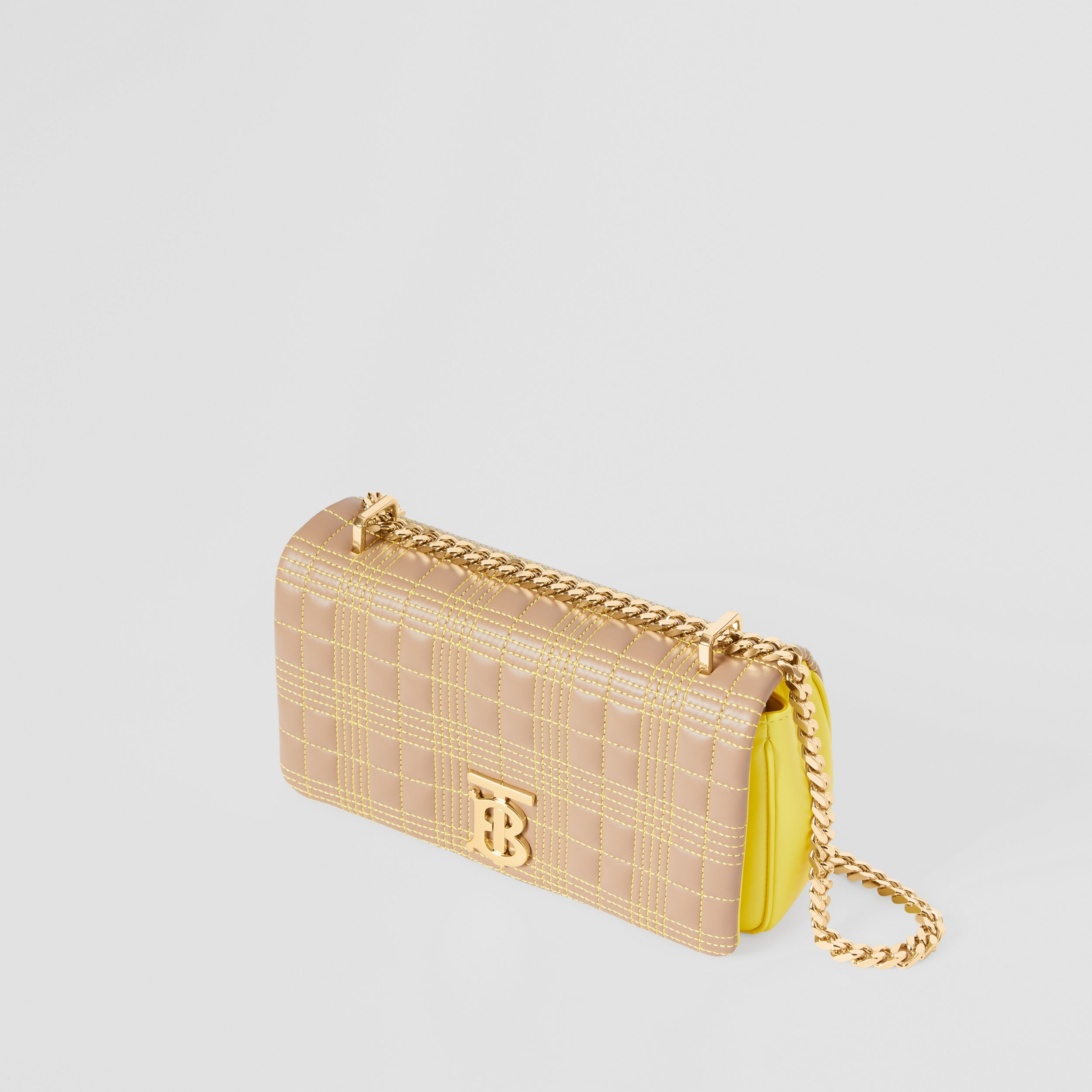 Small Quilted Tri-tone Lambskin Lola Bag in Camel/yellow - Women | Burberry - 4